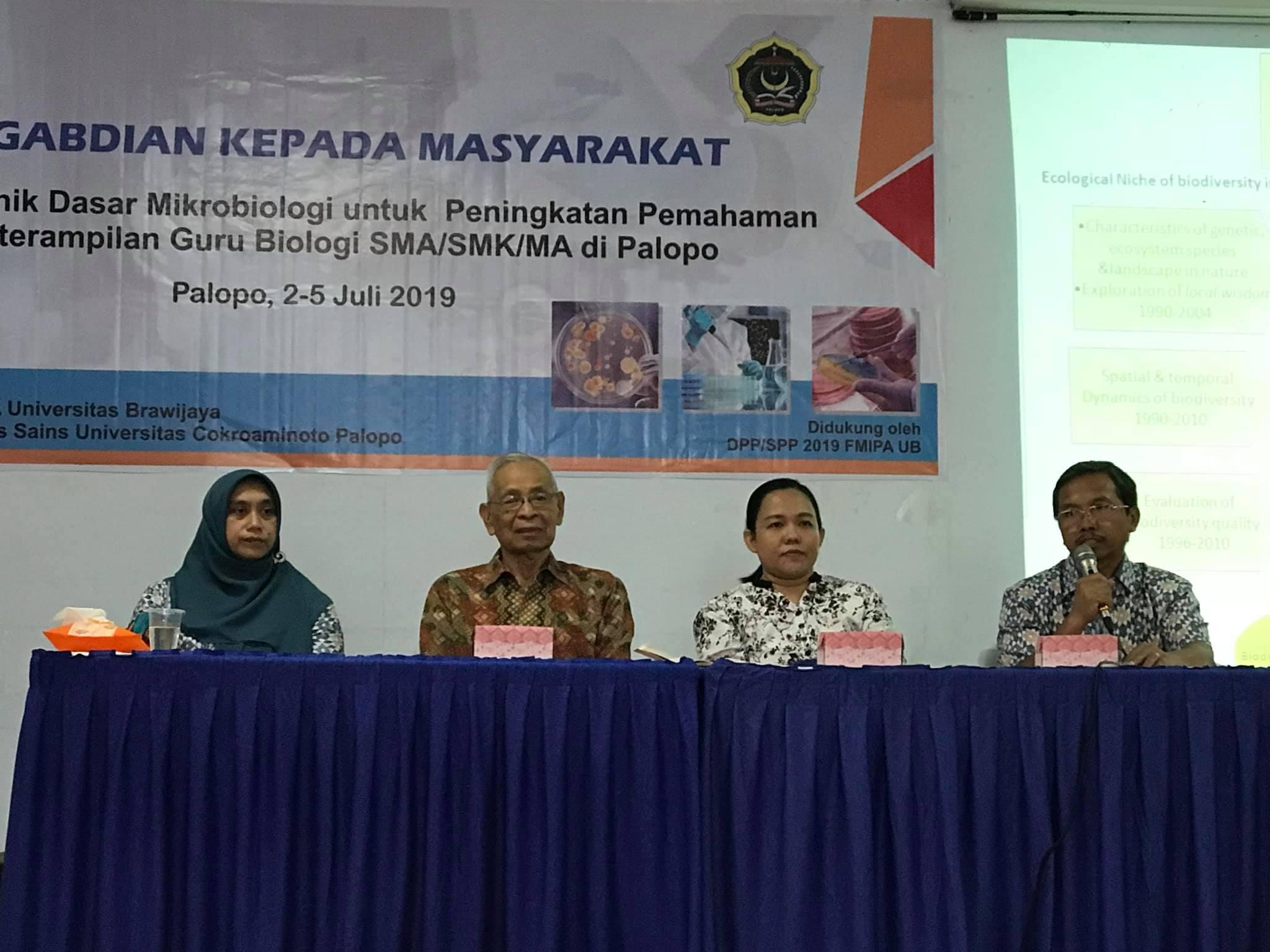 Fakultas Sains UNCP Bekerja Sama Dengan Fakultas MIPA  Universitas Brawijaya